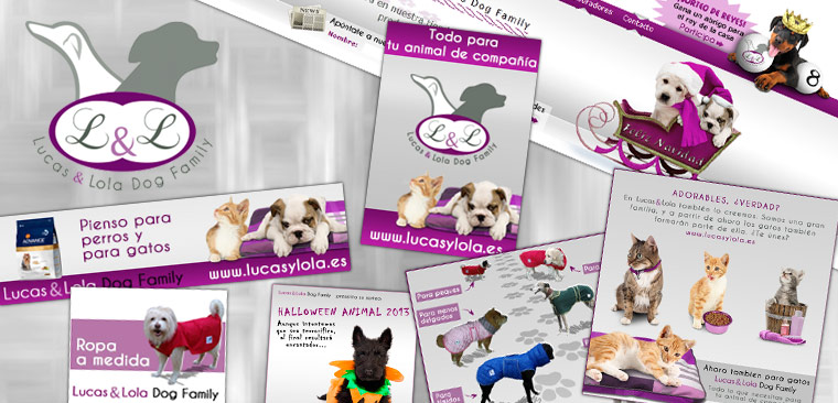 branding diseño gráfico y web Lucas & Lola Dog Family