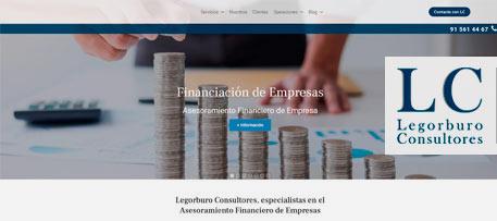 Branding, desarrollo web WordPress, vídeos, marketing online Legorburo Consultores
