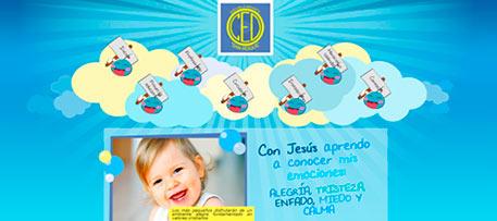 Diseño y desarrollo web a medida e ilustraciones para Escuela Infantil San Roque