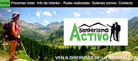Branding y desarrollo web de servicios Senderismo Activo