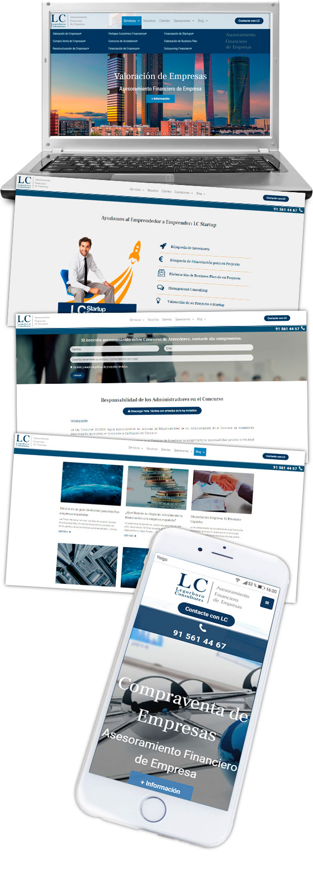 Diseño Web WordPress Legorburo Consultores img lateral