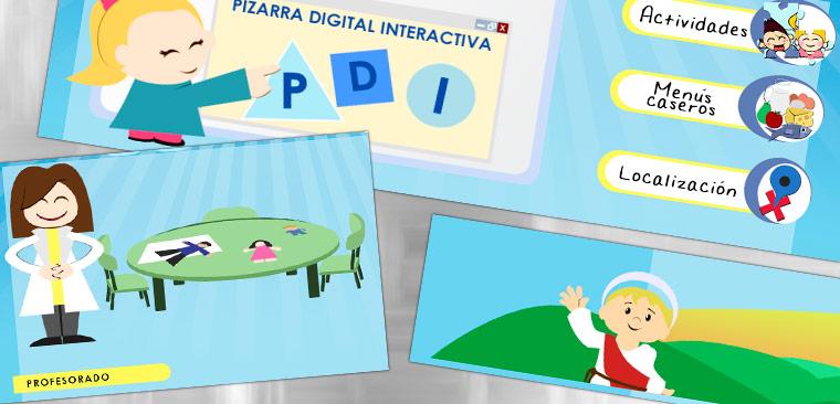 Diseño web e ilustraciones Escuela Infantil San Roque
