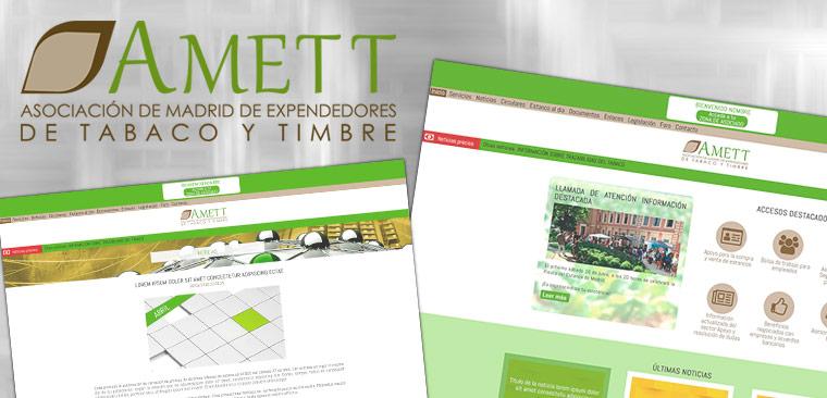 Diseño web responsive y branding Amett