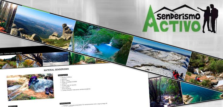 Branding y diseño web responsive Senderismo Activo