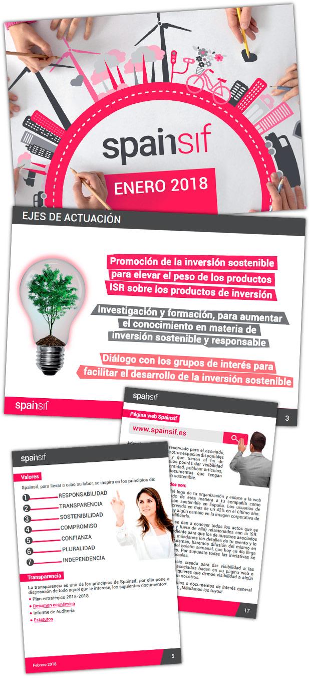 Presentaciones corporativas Spainsif lateral